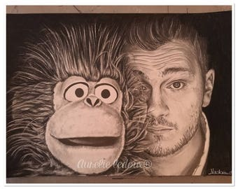 "Double portrait in graphite ""Jeff Panacloc and Jean Marc"""