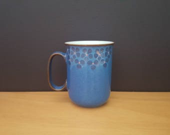 Vintage 1980s Denby Midnight Coffee Mug - Round Handle - Vintage Stoneware - English Pottery - Handcrafted
