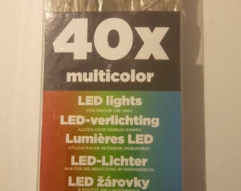 String light battery operated 40 LED lights multicolor home lighting decor