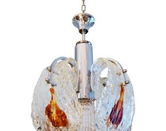 Murano Mazzega Glass Chandelier