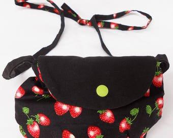 Bag girl strawberries