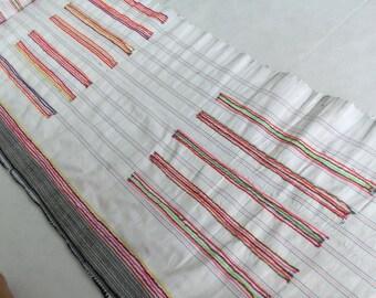 Vintage Hmong hemp Fabric ,Batik fabric textiles, Handwoven Hmong hemp fabric