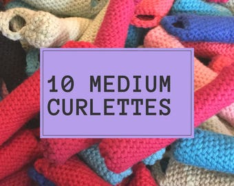 Curlettes: Medium set. PACK OF 10. The comfy way to get your vintage hair style overnight!