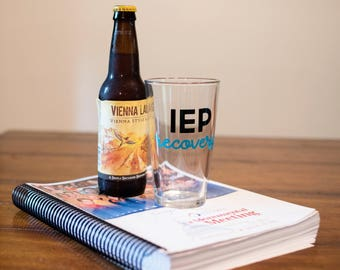 IEP Pint Glass and Coffee Mug Set - IEP Prep and IEP Recovery Set - Special Needs Parents Pint Glass - Special Needs Mom - Special Needs Dad