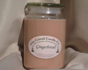 Gingerbread - 100% Soy Candle, 24 fl oz
