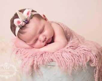 Newborn Unicorn Floral Tieback