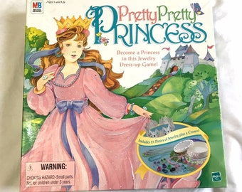 Pretty Pretty Princess Board Game 100% COMPLETE Jewelry Milton Bradley