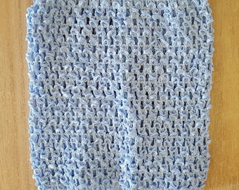 sale 3.3 instead of 3.80.BUSTIER EXPANDABLE Clearwater blue 0-16 months crochet for creating girl tutu dress