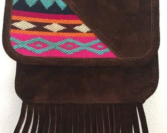 Small Suede Shoulder Bag