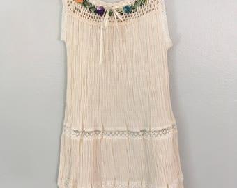 Size 5 hand crochet cotton dress