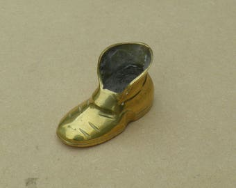 Brass Boot Ornament - Vintage Brass