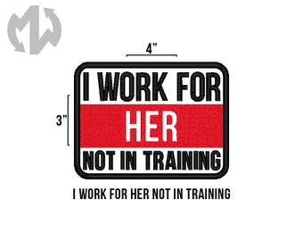 "WORK FOR HER 3"" x 4"" Service Dog Patch"