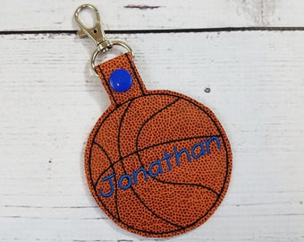 Personalized Name Tag-Basketball Backpack Name Tag-Basketball Coach Gift-Personalized basketball gift Gym Bag Tag-Personalized Key Chain