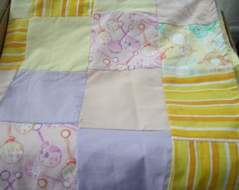Baby Quilt  Multicolor No Batting Light Weight - All Cotton