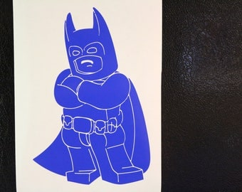 Lego Batman Crossed Arms Decal Any Size Any Colors