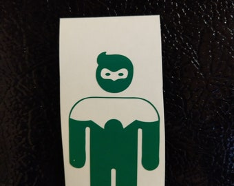 Green Lantern Silhouette DC Decal Any Size Any Colors