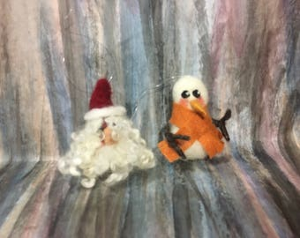 Needle felted ornament (Sarafina inspired)