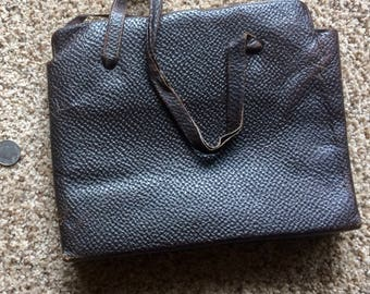 Vintage textured leather purse from the roaring 1920s