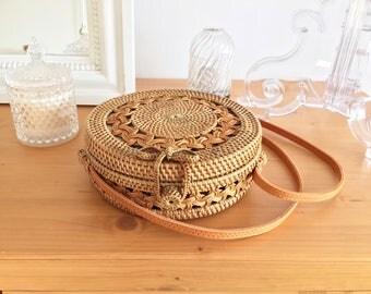 Bali - Wicker - rattan bag purse