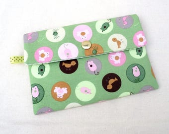"Pocket with flap ""funny animals"""