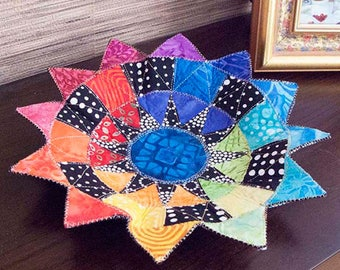 New York Beauty Bowls from Poorhouse Quilt Designs