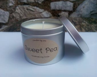 Handmade Sweet Pea Scented Soy Candle 200ml