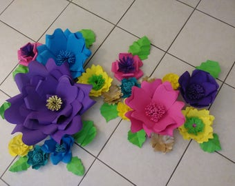 Shimmer and Shine paper flowers-Set of 15