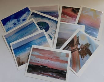 Ocean Photo Cards, Variety Cards, Beach Scene Cards, 10 Photo Note Cards, Blank Greeting Cards, Sunset Cards, Birthday cards