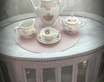 French vintage marquise tea or coffee set
