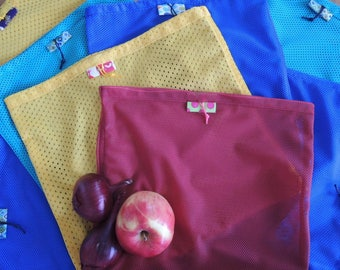 Re.Vrečka. (pack of 3) Upcycled & Reusable Shopping Storing bag, Vegetables bag, Eco friendly, Farmers Market bag -