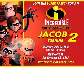 The Incredibles Invitation Printable, The Incredibles Birthday Party
