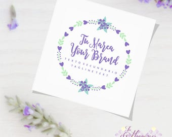 Logo Floral Design Small Business, Brand Etsy Store, Branding, Corporate Image, Florist, Handmade Business, Entrepreneur, Digital PDF