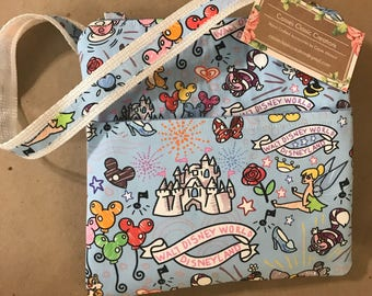 Sketchy Disney Crossbody Bag-light blue