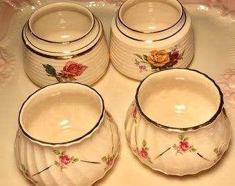 Pretty In Pink-Orphan Sadler Sugar Bowls