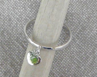 """""""Little heart"""" Silver charm ring"""