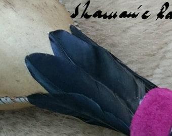 Crow Spirit Shamanic Rattle