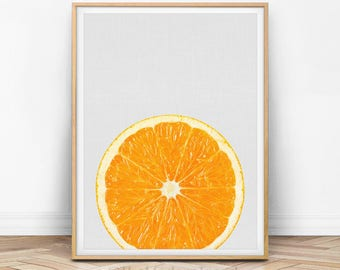 Orange Print, Orange Decor, Kitchen Printable, Kitchen Fruit Print, Fruit Art, Photo Art, Wall Art Print, Modern Kitchen Print, F01