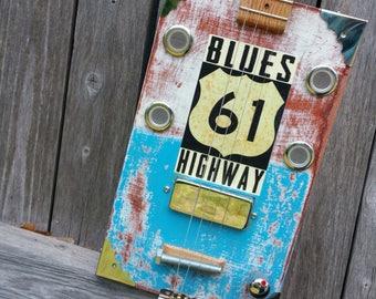 4-String Blues Highway Cigar Box Guitar