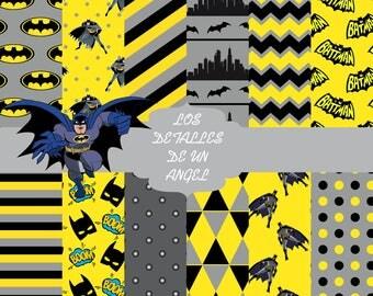 Kit digital papers of Batman / Batman Digital Paper Kit