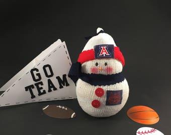 University of Arizona Wildcats,Snowman,Wildcats,gift for Wildcat fan,University of Arizona Wildcat decor,Wildcat jersey,Wildcat accessory