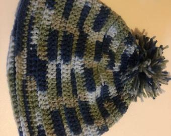 Variegated Crochet Beanie