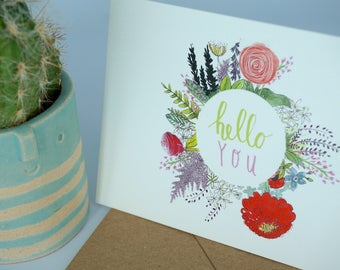 Hello You Greeting Card