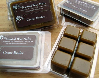 Creme Brulee, TRIPLE SCENTED Soy Wax Melts, Tarts, Scented Candle Melts