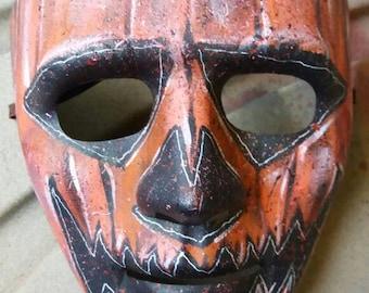 Pumpkin face mask.