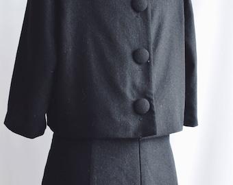 Dress Black Vintage Jackie buttons