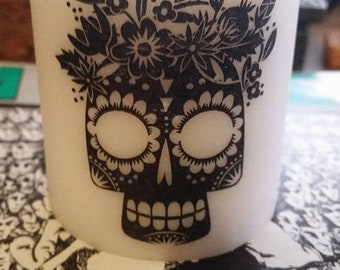Day of Dead Scented  Candle