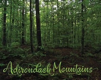 Adirondack Watercolor Art, Adirondack Print, Adirondacks Wall Decor, Adirondack Mountain Wilderness, Adirondack Art, Adirondack Lodge Poster