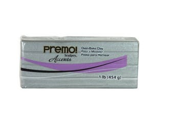 PREMO SCULPEY Silver Polymer Clay Oven Bake Professional Quality