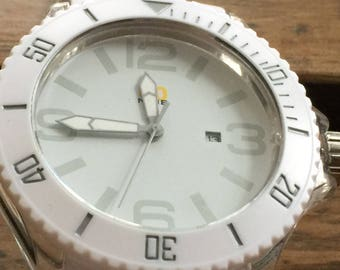 White on White Wrist Watch with flexible Strap - Multiple Watch Listings -15 dollars each, 2 for 25 dollars