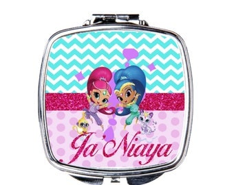 Kids Personalize Shimmer and Shine Compact Mirror
